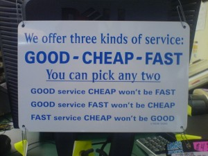 Three types of Service